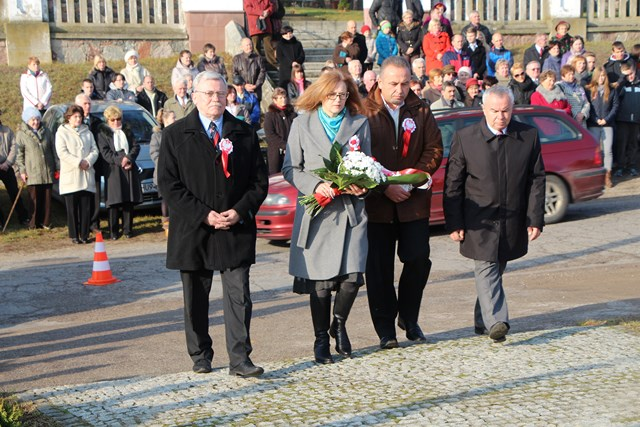 Delegacja SPN: Zdzislaw Narel, Basia Sowińska, Jarosław Czech, Bogdan Piasecki